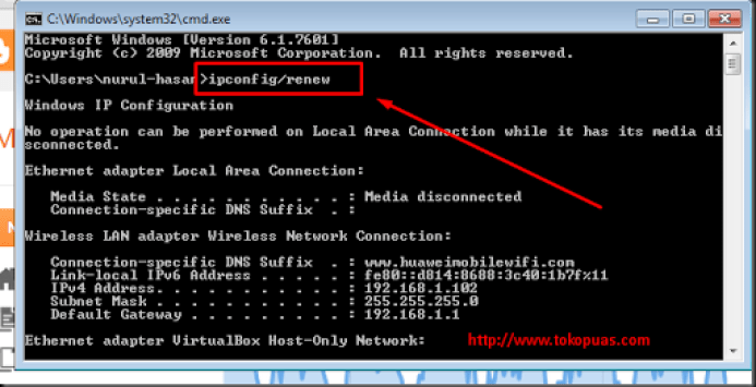 memperbaiki masalah koneksi internet di laptop