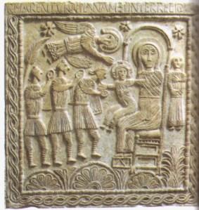 Altare del duca Rachis, Adorazione dei Magi