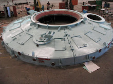 The safety benefits of non-pressurized water cooling, one-piece panel construction and lighter weight construction combine to make Spray-Cooled panelized roofs ideal for the large diameter smelting furnace.