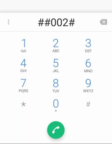 dialed code