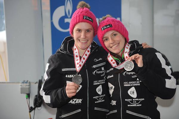 Loes Hubrecht en An Vannieuwenhuyse 4e plaats op WB bobslee in Vancouver