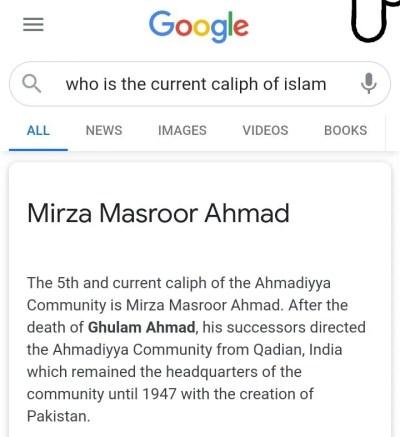 Present Califh of Islam