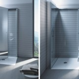 flat-folding shower for small spaces