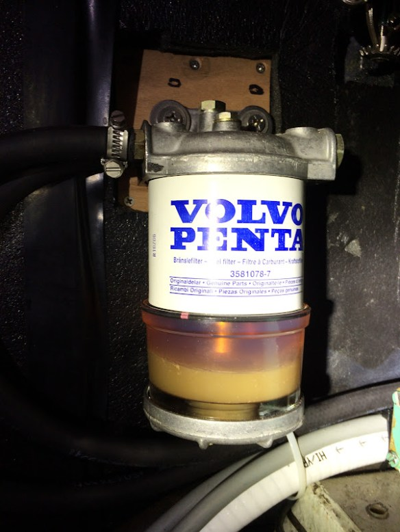 Dieselfilter met water