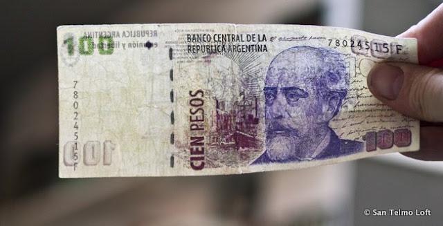 Fake 100 Argentine Peso Note