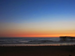 Pacific Beach Sunset. Didn't use a tripod and still need to learn how to take night shots with my G15.