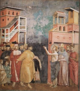 Giotto, Francesco rinuncia alle ricchezze