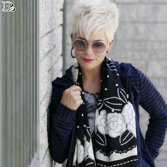 white pixie haircut
