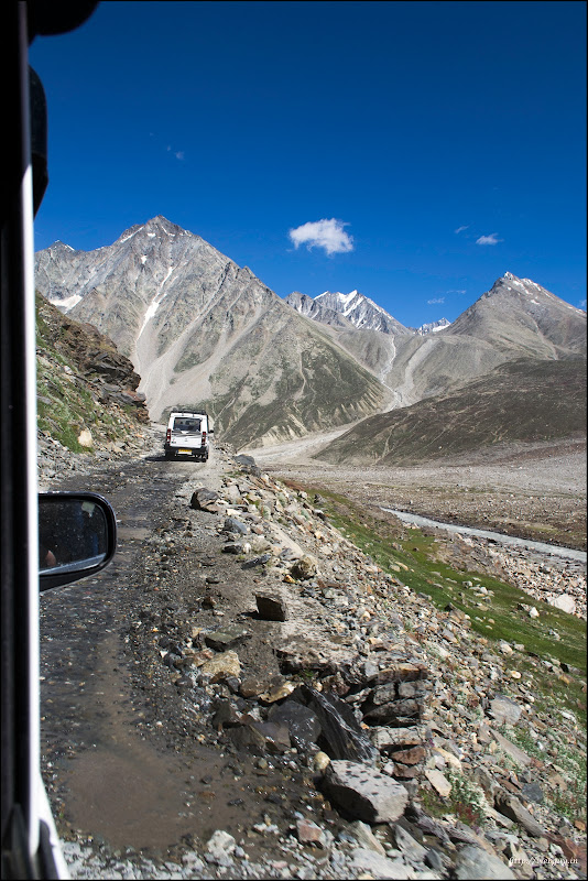 Water-streams on the road, Hampta Pass Trekking