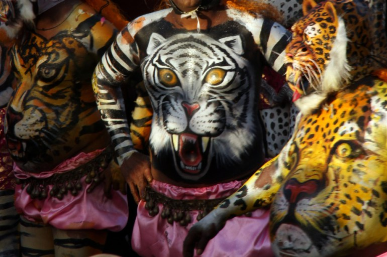 #Travelbloggerindia #Travelblog #keralatravelblog #keralatourism #pulikalitigerdance