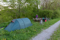 First camp spot close to the river Jagst