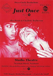 poster for the production 'Just Once'.