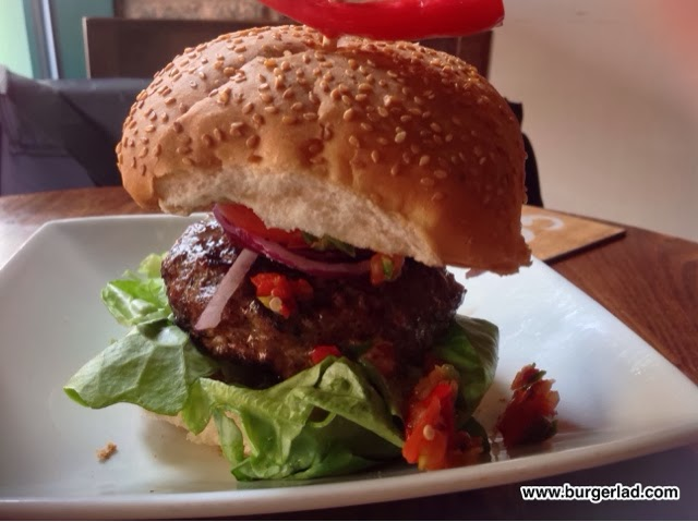handmade burger Co. Stuffed Burger with Cheddar and Chilli