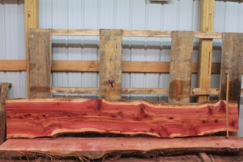 "Cedar 283-4  Length 10' 6"" Max Width (inches) 20 Min Width (inches) 15 Thickness 8/4  Notes : Kiln Dried"