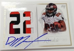 2012 Panini National treasures Colossal Doug Martin Auto