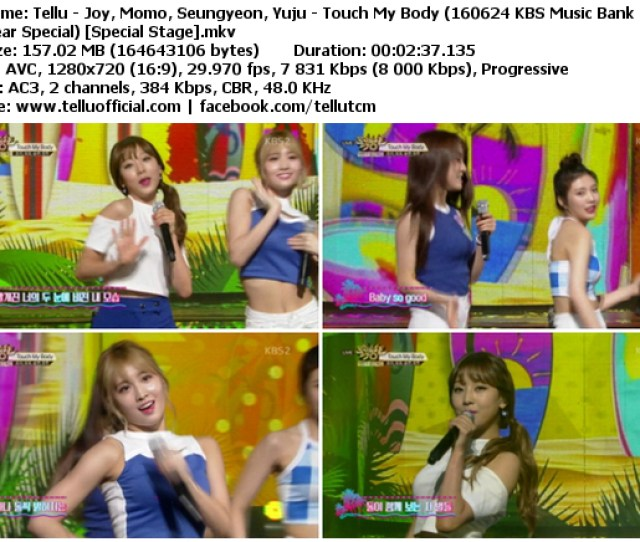 Download Music Video File Perf Joy Momo Seungyeon Yuju Touch My Body Kbs Music Bank Half Year Special 160624 Special Stage Size 157 Mib