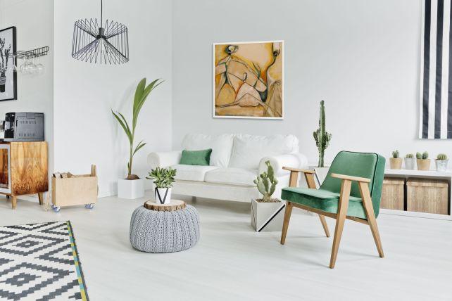 Bailarinas by Julieta Valdez hangs in home living area