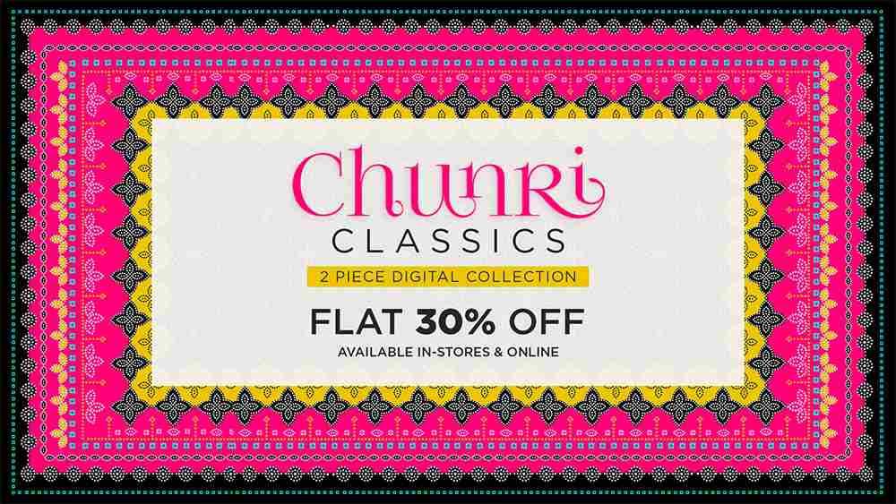 Gul Ahmed Chunri Classics is available at Flat 30% Off