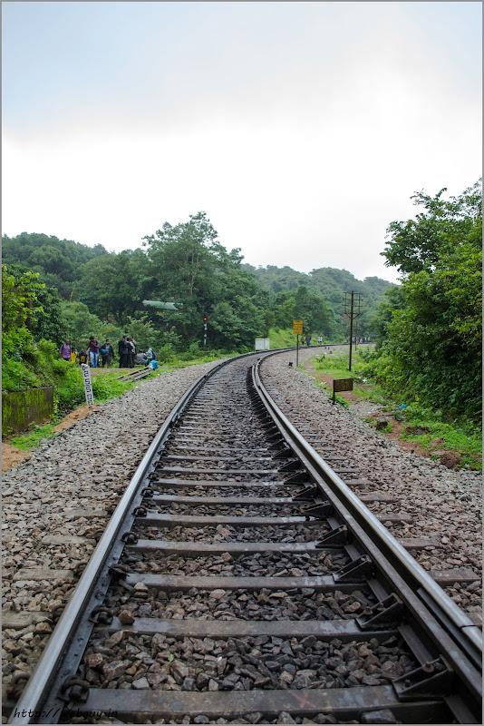 Walking by the tracks – Doodhsagar Trek