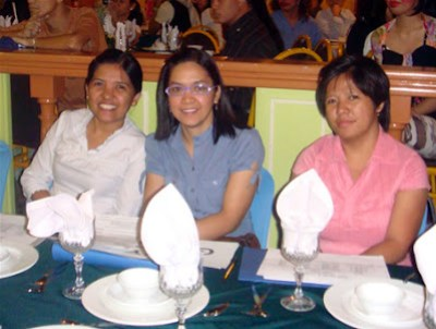 Board of Judges (from left): Teacher Loida Alvarez of Quezon Province, Ms. Lizette Mabini and Ms. Ma. Liza Plata