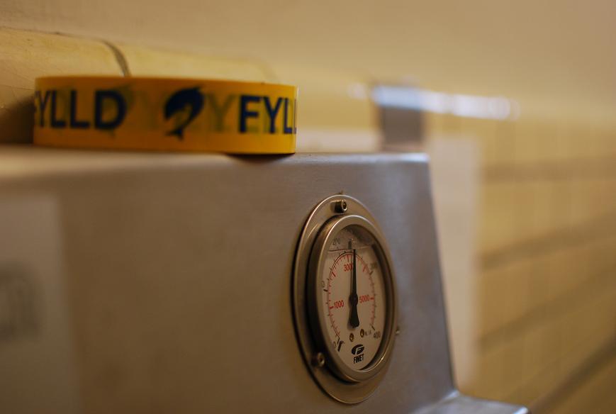 Fyllnings manometer