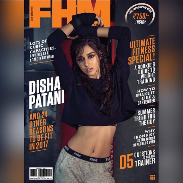 Disha Patni FHM India 2017 Cover page girl