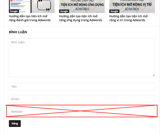 Thủ thuật loại bỏ URL trong comment của WordPress