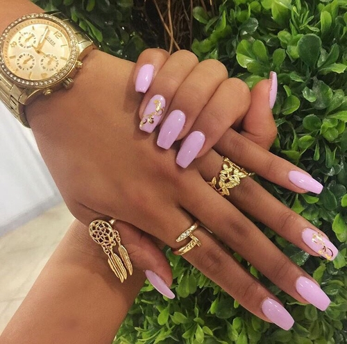 While blush and atramentous seems to be a accepted appeal for attach art,  pink, white and argent designs are additionally a absolute way to affect  anyone. - Pretty Pink Nail Art Ideas For 2017 - Reny Styles
