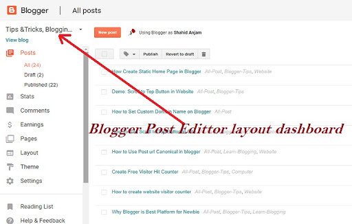 How To Create Static Home Page in Blogger