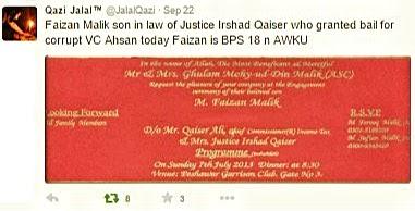 Qazi Jalal tweet