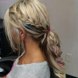 side braid ponytail hairstyle 2017 ideas