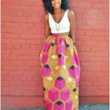 Latest African Print Maxi Skirts 2017