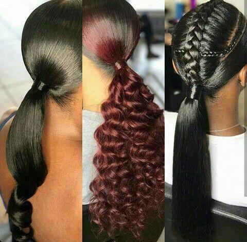 epochal black ponytail hairstyles