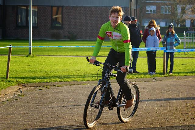 wielrennen op school