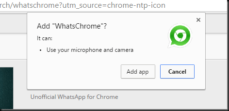 whatsapp di browser chrome