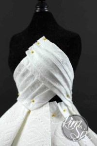 Red Carpet Worthy Haute Couture Dress From Unconventional Materials     Pinning toilet paper dress
