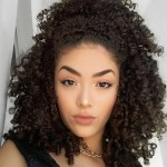 trendy Curly Weave Hairstyle 2017