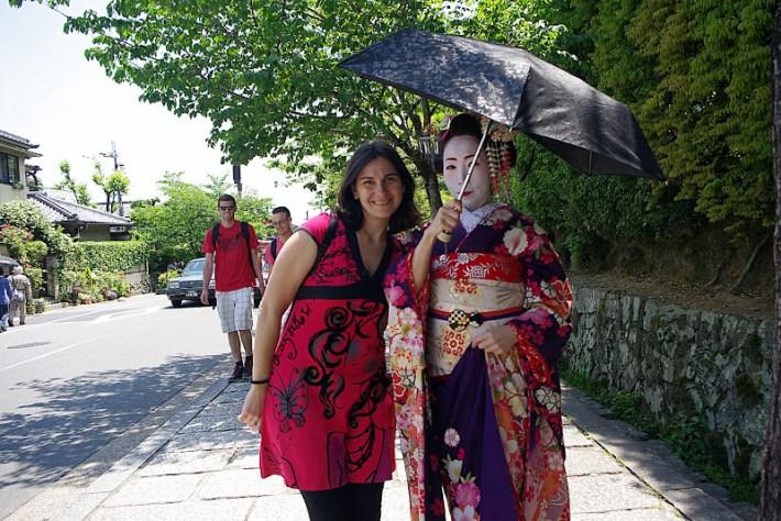 Qué ver en Kioto. Maiko en Arashiyama