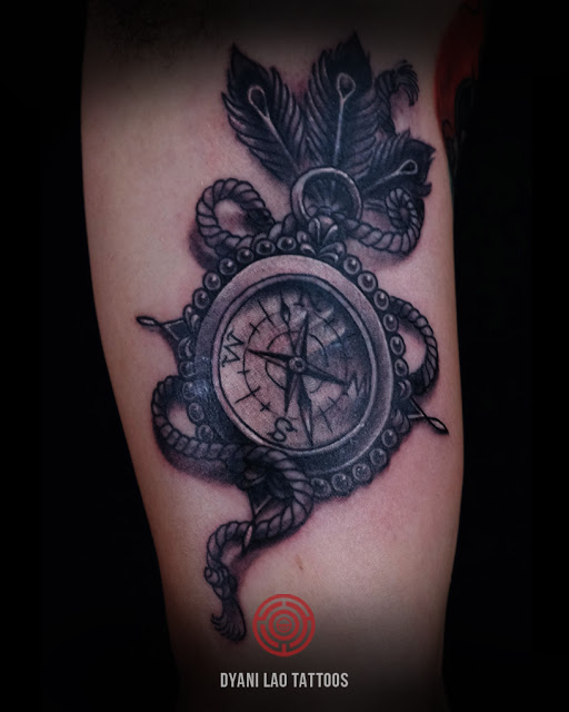 Compass - Dyani Lao Tattoos and Art