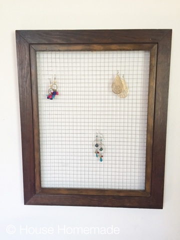 Repurposed frame as wall display