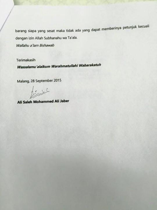Surat Terbuka Ali Jaber 4