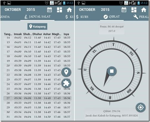 aplikasi kalendar di lengkapi kompas sholat ibadah