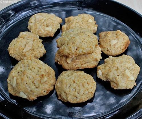 Eggless Soft White Chocolate Chunk Cookies Recipe
