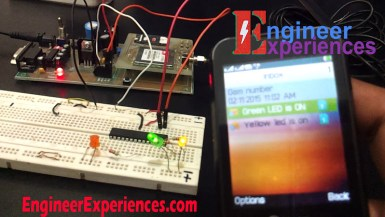 Controlling LEDs through Mobile