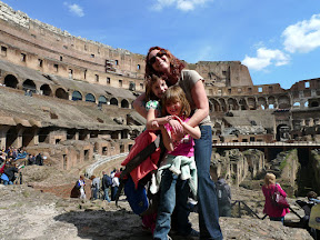 We make it into the Coloseum with minutes to spare.  yeah!