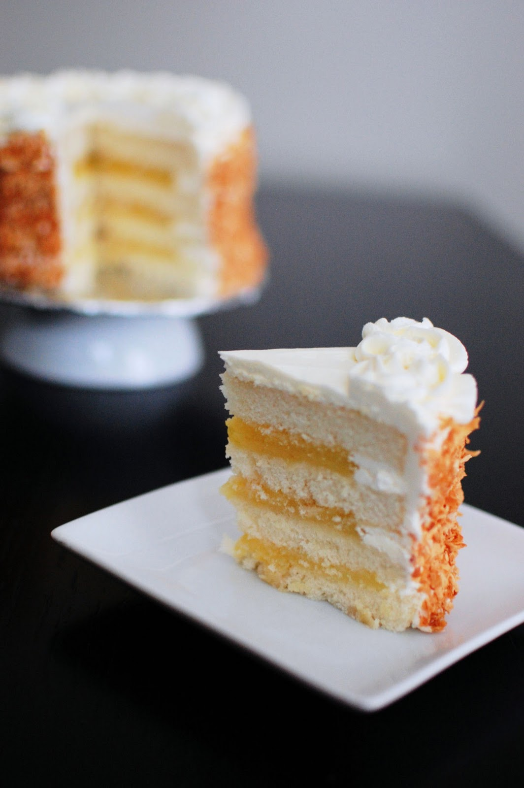 Coconut Layer Cake Filled with Lemon Curd   Beantown Baker Coconut Layer Cake Filled with Lemon Curd
