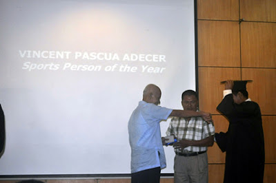 Vincent Adecer, Sports Person of the Year