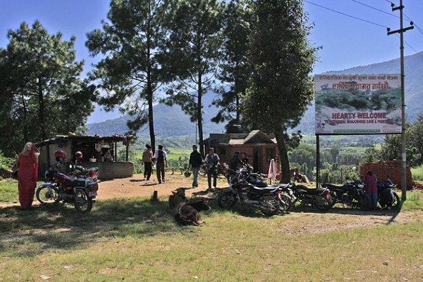 bus stop in nepal, getting around nepal