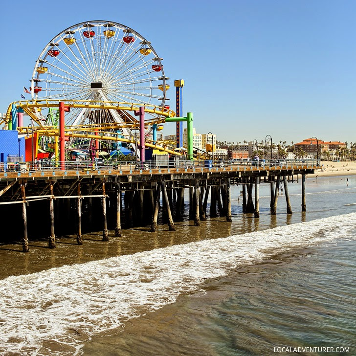 Santa Monica Pier (101 Things to Do in Los Angeles CA).