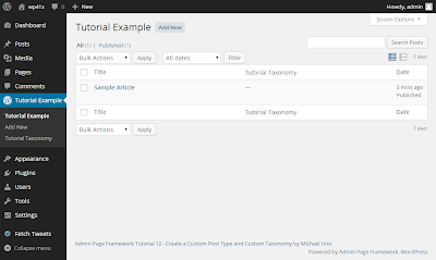 Create a Custom Post Type and Custom Taxonomy